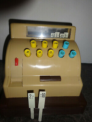 Große Kasse für Kaufladen mit Spielgeld Original 1963 3