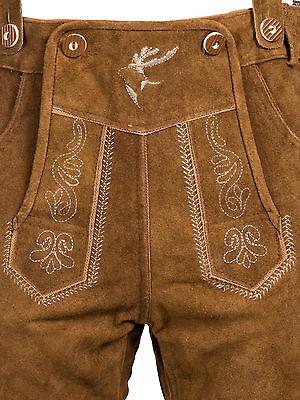 Trachten Set Herren Trachten Lederhose mit Tracht Träger Hemd Tasche Oktoberfest 4