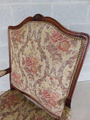 Quality Vintage French Louis XV Style Fireside Accent Arm Chairs  - a Pair 8