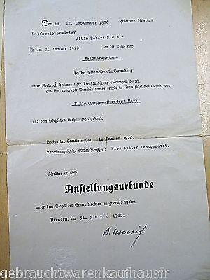 Eisenbahner Unterlagen von 1920 mit verschiedenen Dokumenten 2