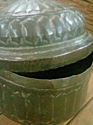 Antique Great Calligraphy Carved Copper Islamic Mughal Religious Big storage Box 3