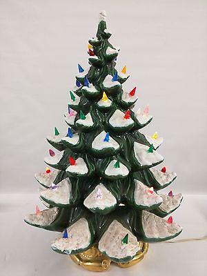 atlantic mold 24 4 piece ceramic christmas tree snow color lights golden - Atlantic Mold Ceramic Christmas Tree