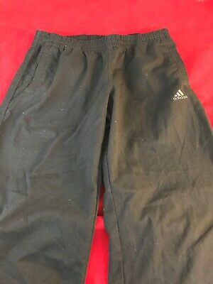"ADIDAS Boys Black Climalite Elastic Waist TrackSuit Trousers Age14S W30"" x L27"" 3"