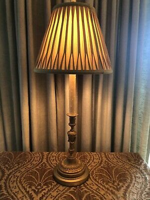 Antique Gilt Bronze Neoclassical French Candlestick Lamp 4