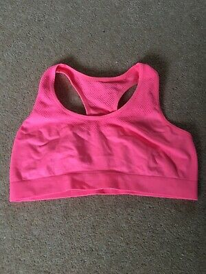 Girls Coral Pink Sports Bralet Age 12-13 2