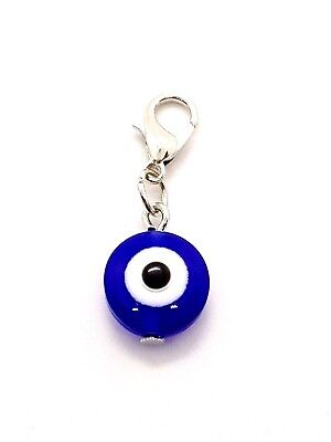 One Small Lucky Turkish Evil Eye Nazar Hamsa Kabbalah Personal Key Purse Charm