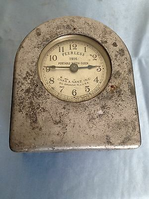 Vintage Peerless 1916 Portable Watch Clock Movement Mfgd By Seth Thomas 8