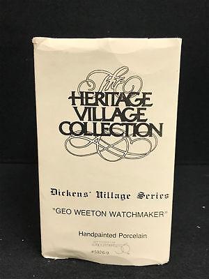 Dept 56 Dickens Village Series Geo Weeton Watchmaker Porcelain Collectible 9