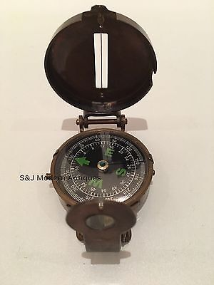 Soldiers Military Thumb Compass Vintage Brass WW2 1940 Navigation World War II 11