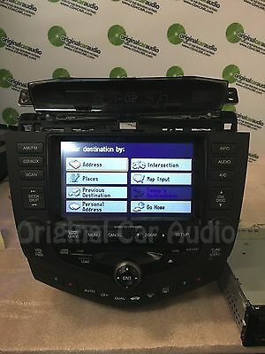 1 Of 6 2003 Honda Accord Navigation Gps Radio Cd Changer Player 2ck0 Aux Oem