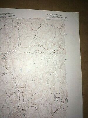 McIntyre PA. Indiana Co Old USGS Topographical Geological Survey Quadrangle Map 3