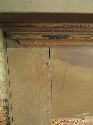 Antique 19c American Grain Painted Fireplace Mantel - Pine & Square Nail VR 5