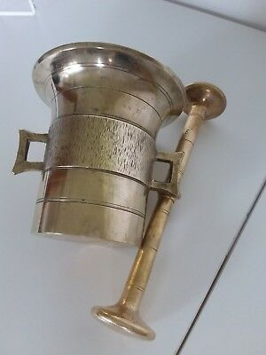 Antiker Apothekenmörser mit Pistill - BRONZE- 19.Jahrhundert / BIEDERMEIER 11
