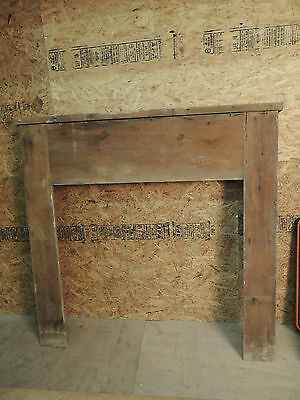 Antique 19c American Grain Painted Fireplace Mantel - Pine & Square Nail VR 10