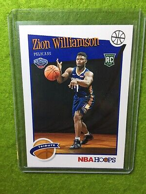 ZION WILLIAMSON ROOKIE CARD JERSEY #1 PELICANS RC 2019-20 Panini HOOPS rookie rc 4