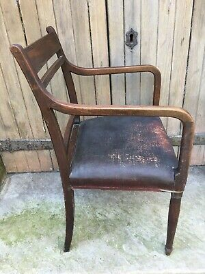 George III Carved Oak Library Desk Chair 18th Century Georgian Dining Armchair 5