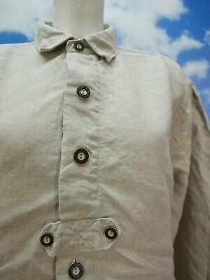 Gr.L Trachtenhemd Mc O`Neill Leinen beige mit Riegel Trachten Hemd TH1593 2