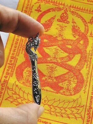 Pha yant Thai Amulet Authorized  Protect black Magic Pendant Meed Mor Naga Nak