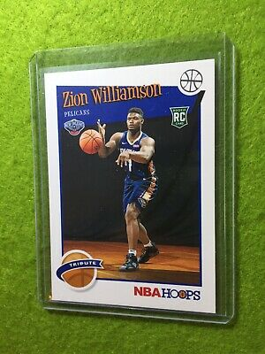 ZION WILLIAMSON ROOKIE CARD JERSEY #1 PELICANS RC 2019-20 Panini HOOPS rookie rc 7