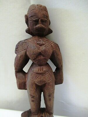 Antique Wooden Doll Hand Crafted Putali Figurine Indian Art Carved Collectibles* 2