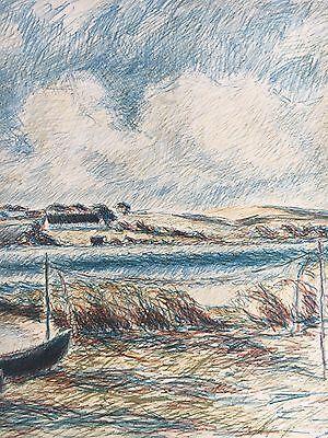 Ernst Syberg 1906-1981 Windiger Tag An Der Küste - Lithografie 1970 8
