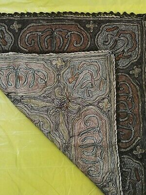 Antique Turkish Hand Made Textile Ottoman For Table/ Framing 7