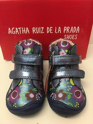 Agatha Ruiz De La Prada Infant Girls Ankle Boots Blue Multi Floral (171911) 2