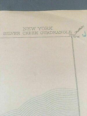 US Geological Survey Topography Map,1902 Quadrangle Silver Creek  New York 4