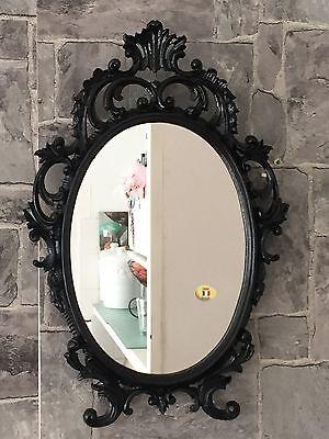 Miroir mural ovale baroque or argent noir blanc 43x28cm miroir antique shabby eur 36 99 for Miroir mural baroque