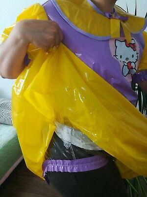 Adult Baby Kleid  INTEGRIERTE Windelhose Sissy PVC LACK Diaper Plastik L- XL 5