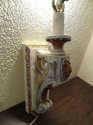 Vintage Antique Wood Sconce Door Entrance Wall Mount Light Lamp Victorian Castle 4
