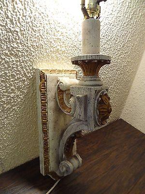 Vintage Antique Wood Sconce Door Entrance Wall Mount Light Lamp Victorian Castle 4