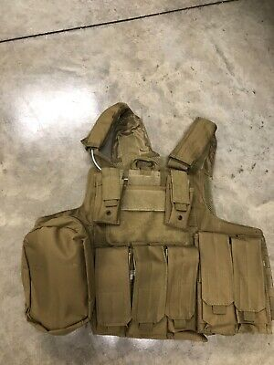 Tactical Vest COYOTE Tan Plate Carrier BODY ARMOR Military Matches Multicam 6