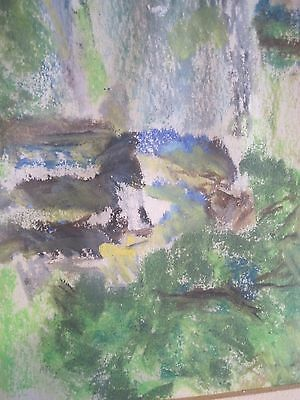 Watercolor Original Painting Art Quick sketch NICELY FRAMED UNSIGNED MAN WOODS 8