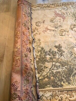 Antique Turn Of The Century Large French Wool Wall Hanging Tapestry 7