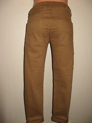 Worn Once Boys H & M Skinny Stretch Caramel Brown Skinny Leg Jeans Age 11-12-13 4