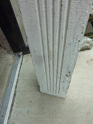"SQUARE fluted TAPERED victorian POST pier COLUMN 61"" x 9 x 10"" square 4"