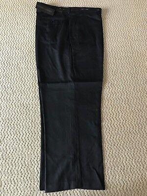 NWT Men/'s Alberto Cardinali Black Flat Front Dress Pants Slacks ALL SIZES//LENGTH