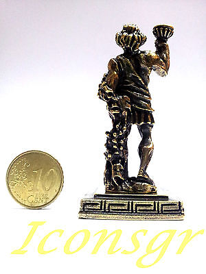 Ancient Greek Olympian God Miniature Sculpture Statue Zamac Vakhos Dionysus Gold