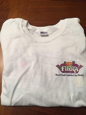 Fiesta Rancho Casino Las Vegas T-shirt Royal Flush Capital Logo XL New!!