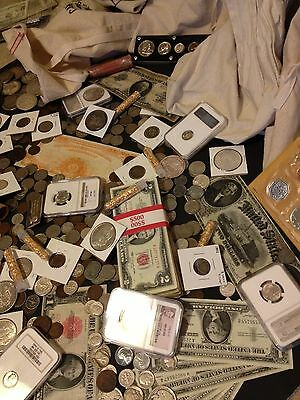 ✯Estate Sale Lot Old Us Coins✯Currency✯Pcgs Ngc✯Gold Silver Bullion✯50 Years+✯ 4