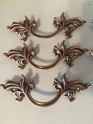 """French Provincial Drawer Pulls 3"""" Lot Of 6 Belwith Keeler Brass NEW Handle Gold"""