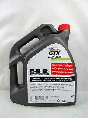 Castrol GTX Ultraclean 10W-40 10W40 5Liter Motoröl Öl A3/B4 VW 50101 50500 MB 3
