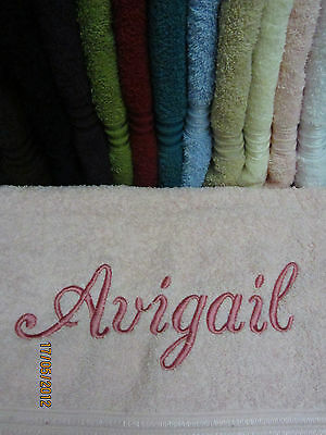 NEW Personalised Embroidered Beach Towel Egyptian Cotton *Ideal Christmas Gift