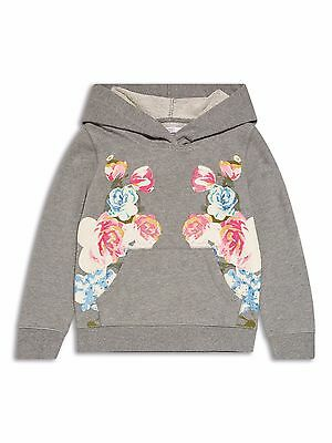 Girls Grey Floral Hoodie Various Ages 8 - 14 Free Postage 2