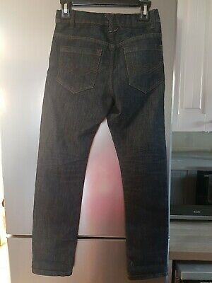 Age 10 Boys Dark Blue Slim Leg Jeans 2