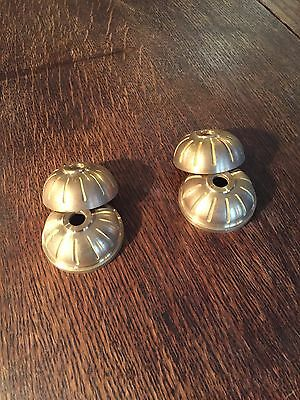 Pair of New Old Stock Cast Brass Two Piece Balls - Vintage Lighting Parts 5