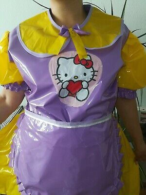 Adult Baby Kleid  INTEGRIERTE Windelhose Sissy PVC LACK Diaper Plastik L- XL 2
