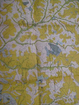 "32 x 26"" Color Lithograph Map Hoke County North Carolina Soil Streams RR Hoen 2"