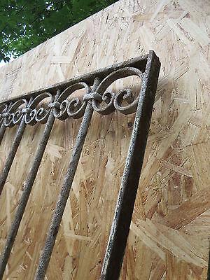 Antique Victorian Iron Gate Window Garden Fence Architectural Salvage Door T 8